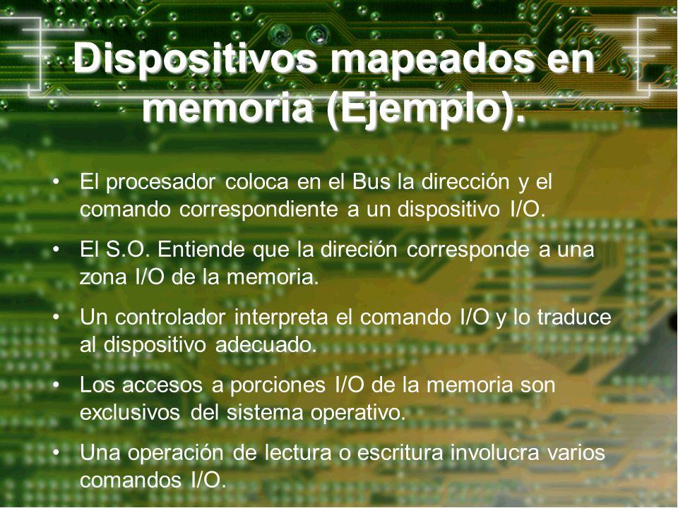 Dispositivos mapeados en memoria (Ejemplo).