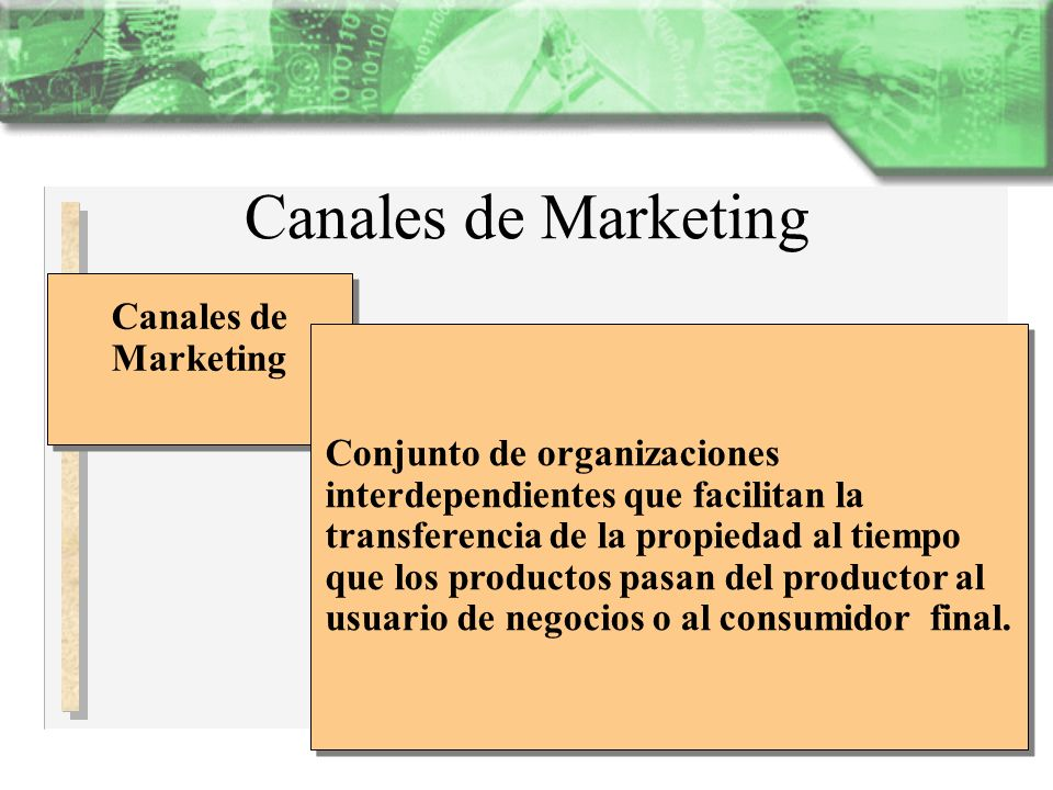 Canales de Marketing Canales de Marketing
