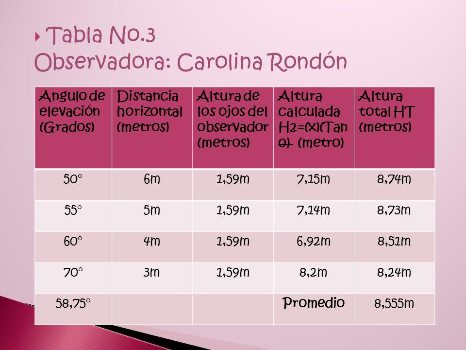Observadora: Carolina Rondón