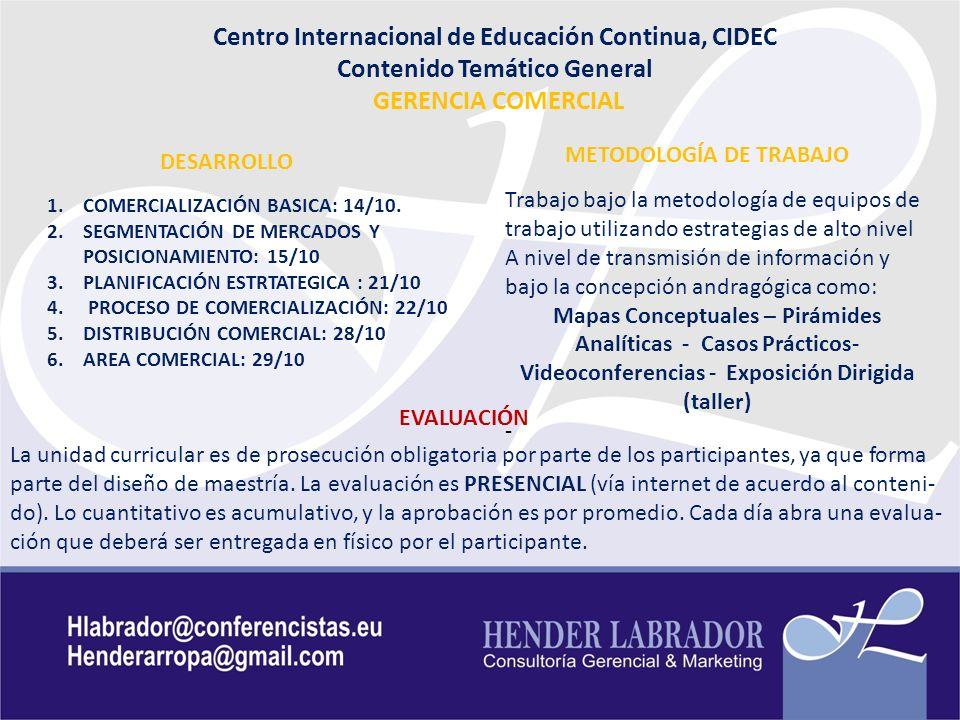 Centro Internacional de Educación Continua, CIDEC