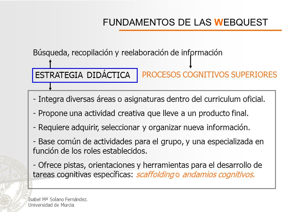 FUNDAMENTOS DE LAS WEBQUEST