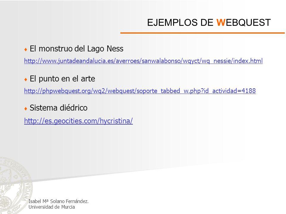 EJEMPLOS DE WEBQUEST El monstruo del Lago Ness El punto en el arte