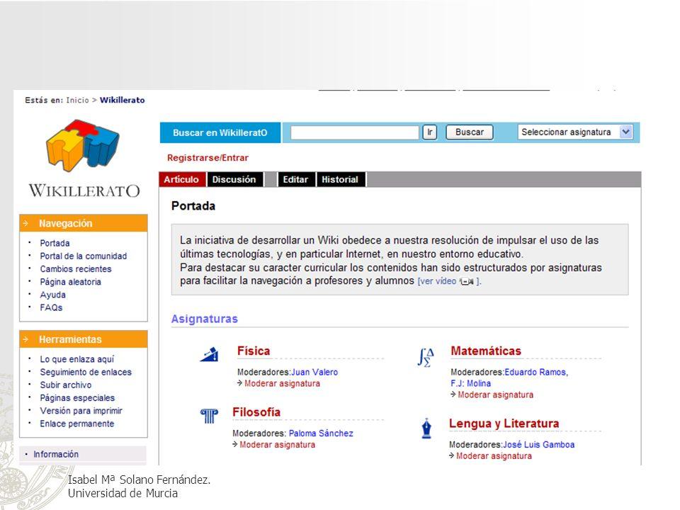 Isabel Mª Solano Fernández. Universidad de Murcia
