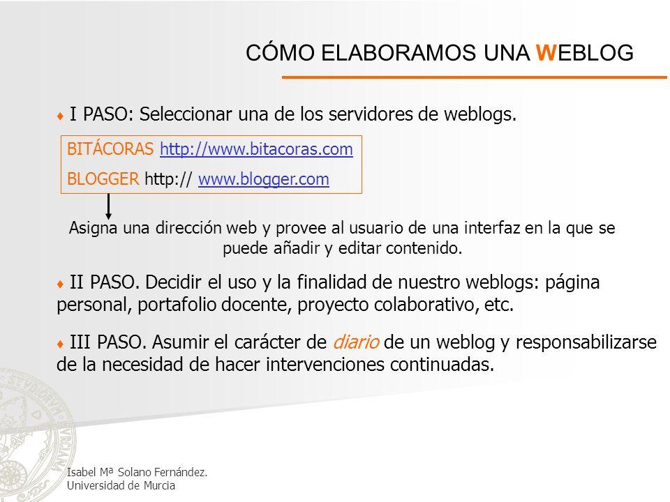 CÓMO ELABORAMOS UNA WEBLOG