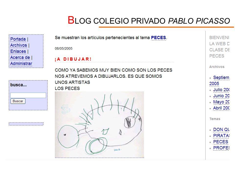 BLOG COLEGIO PRIVADO PABLO PICASSO
