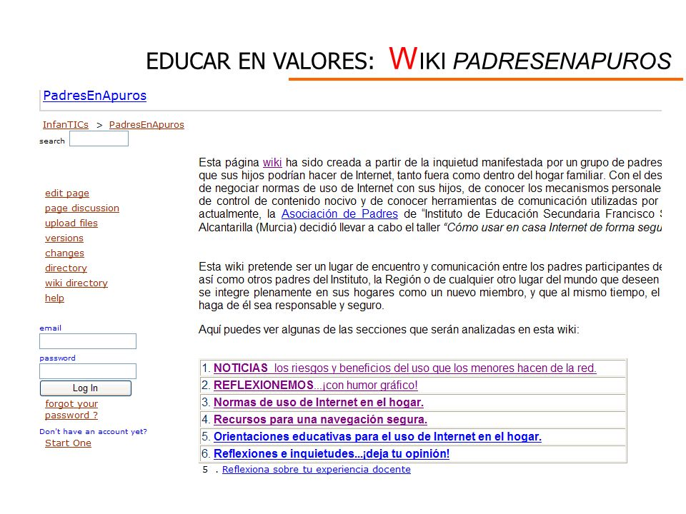 EDUCAR EN VALORES: WIKI PADRESENAPUROS