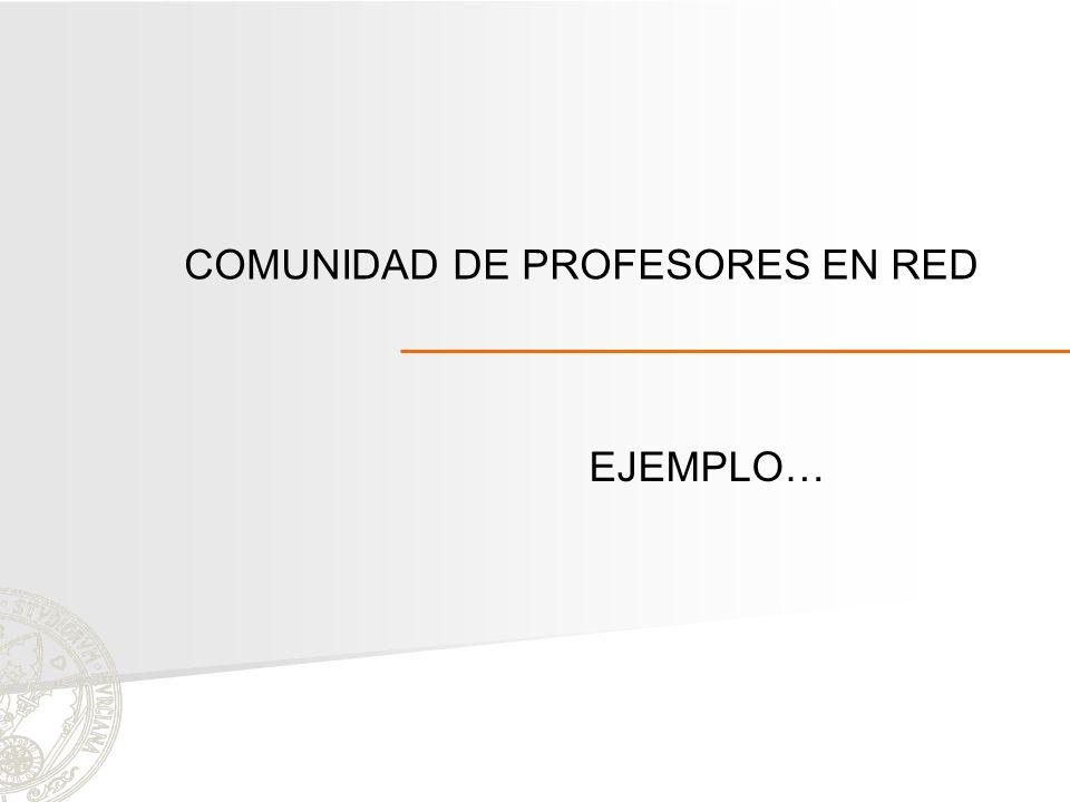 COMUNIDAD DE PROFESORES EN RED