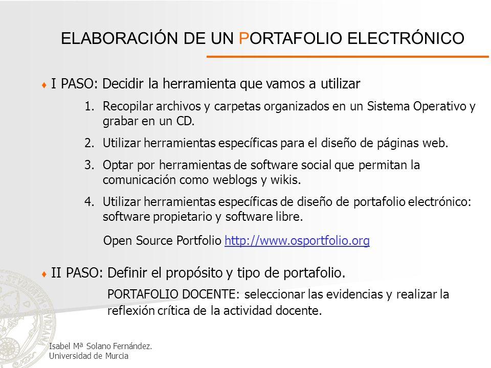 ELABORACIÓN DE UN PORTAFOLIO ELECTRÓNICO