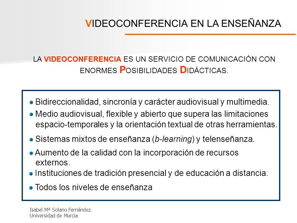 VIDEOCONFERENCIA EN LA ENSEÑANZA