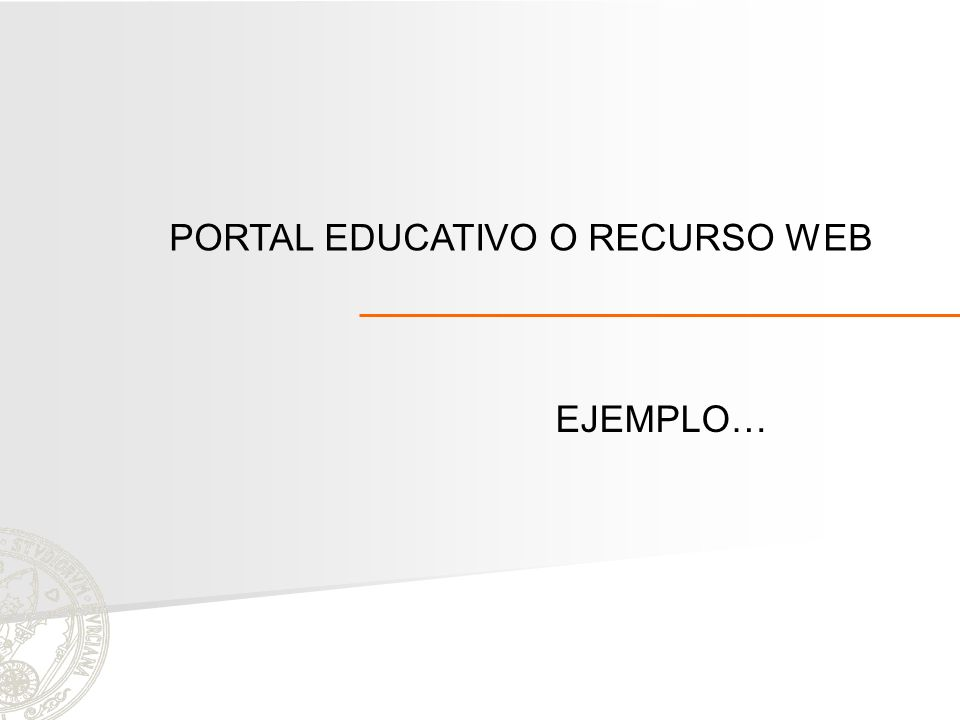 PORTAL EDUCATIVO O RECURSO WEB