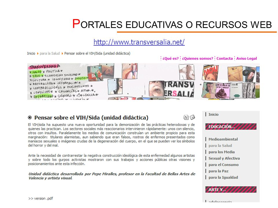 PORTALES EDUCATIVAS O RECURSOS WEB