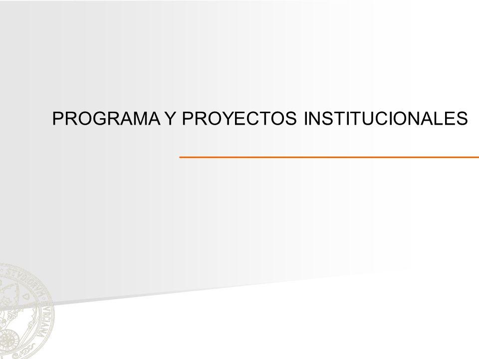 PROGRAMA Y PROYECTOS INSTITUCIONALES