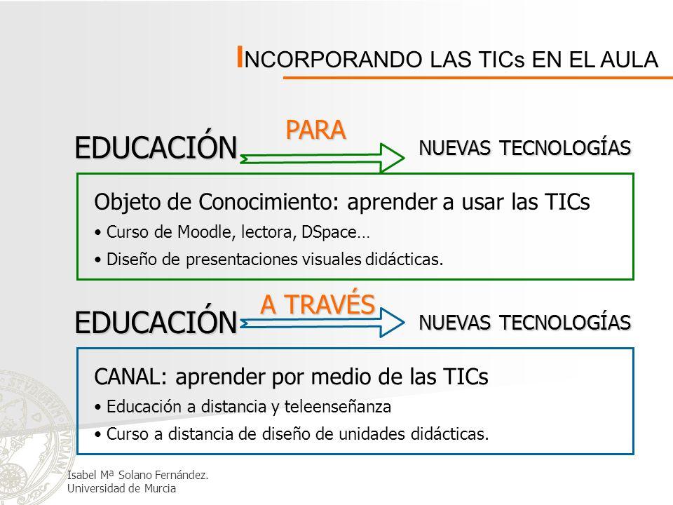 INCORPORANDO LAS TICs EN EL AULA