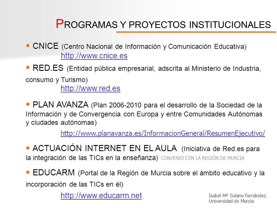 PROGRAMAS Y PROYECTOS INSTITUCIONALES