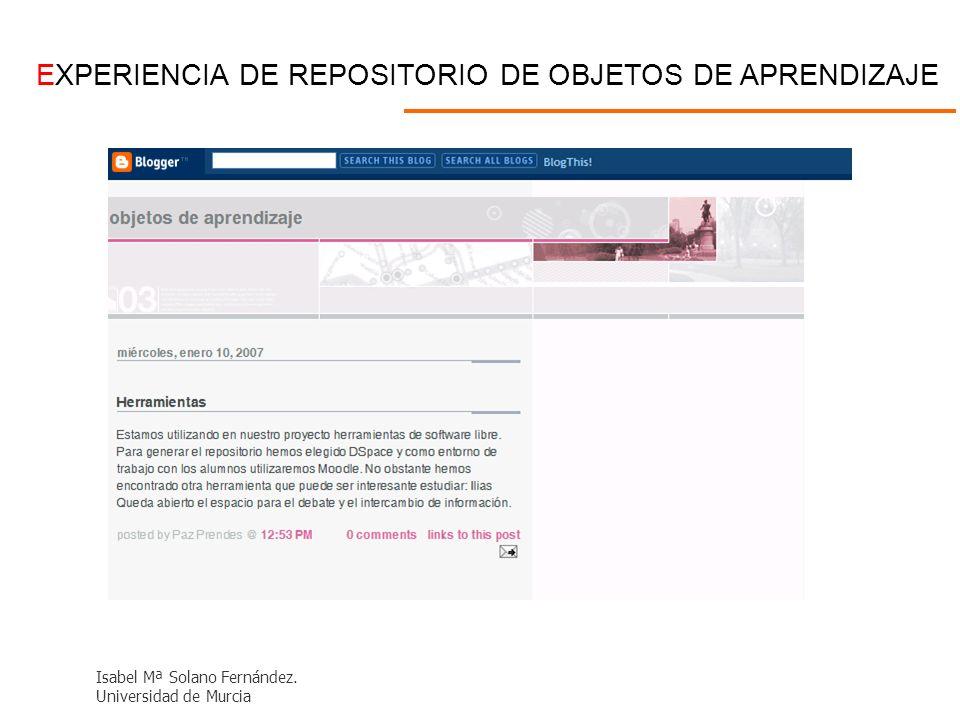 EXPERIENCIA DE REPOSITORIO DE OBJETOS DE APRENDIZAJE