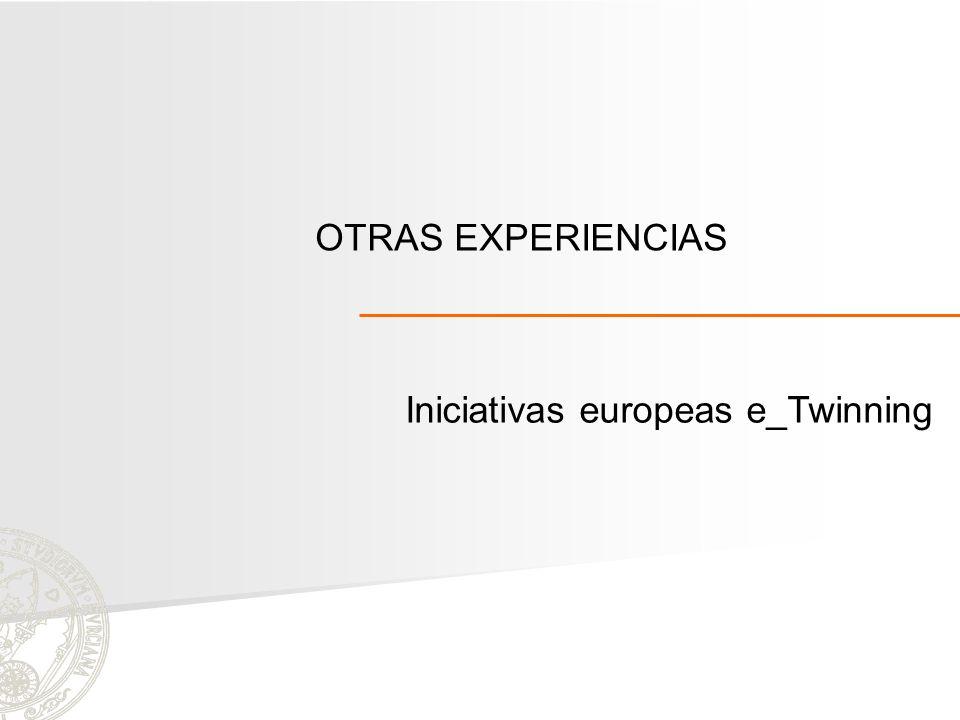 Iniciativas europeas e_Twinning