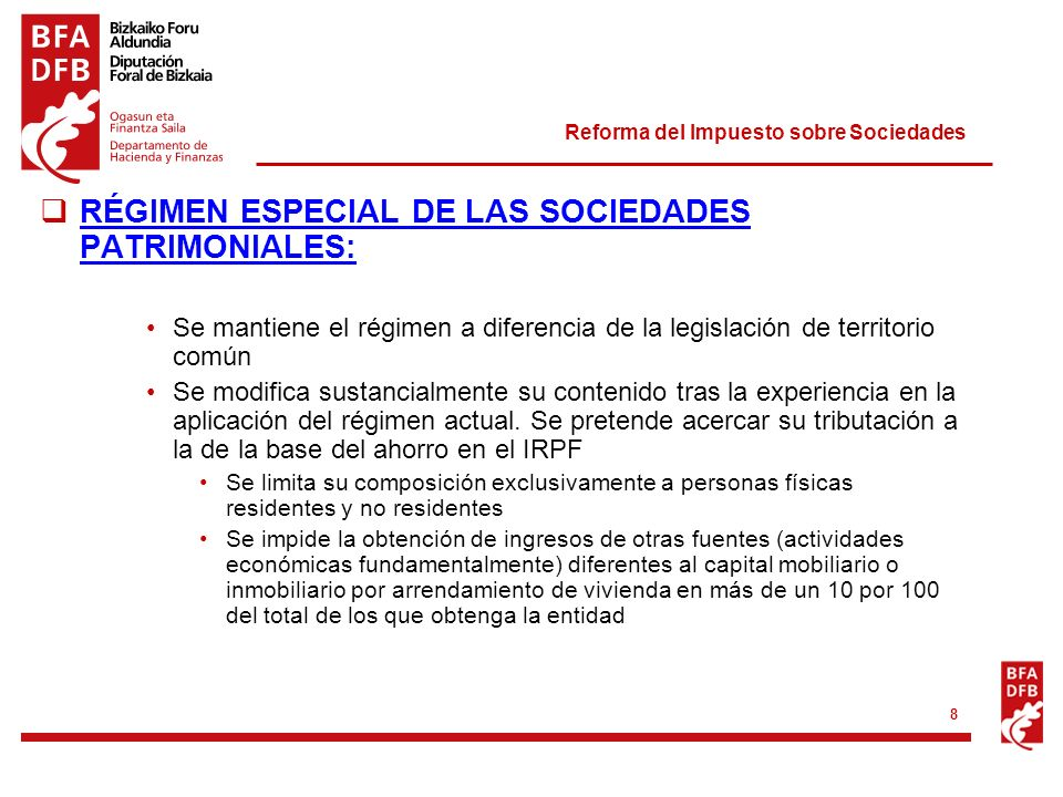 Norma Foral del Imuesto sobre la Renta de las Personas Físicas (IRPF)