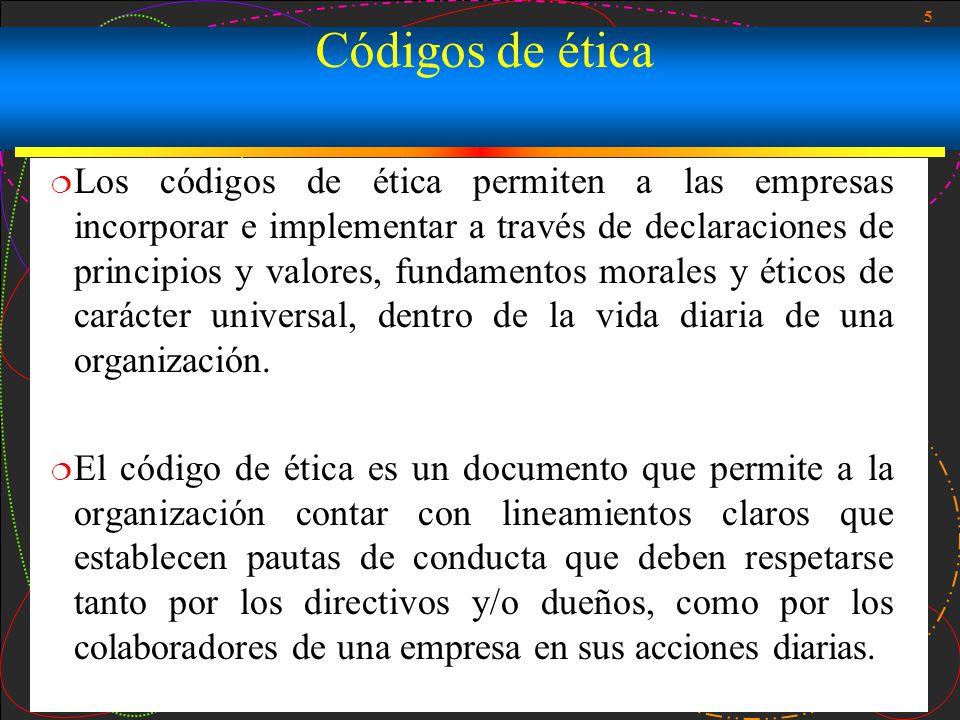 Códigos de ética