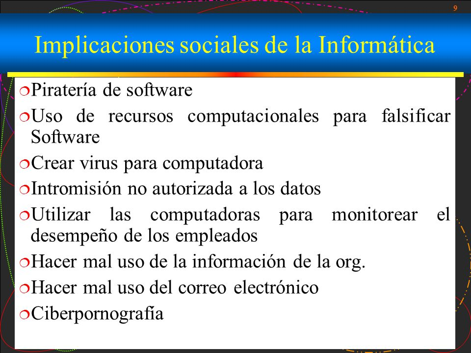 Implicaciones sociales de la Informática