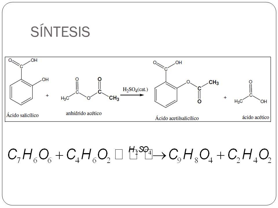 procesos en la industria farmaceutica  s u00cdntesis de la aspirina