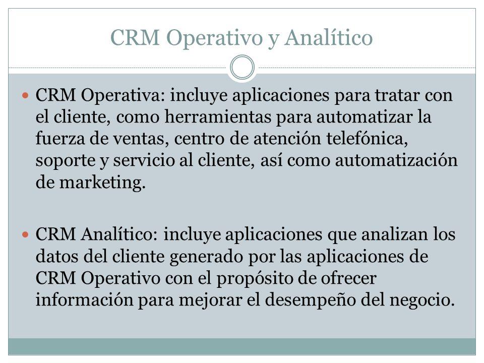 CRM Operativo y Analítico