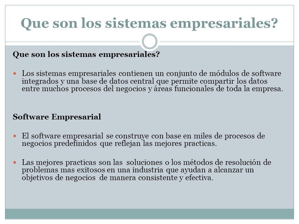 Que son los sistemas empresariales
