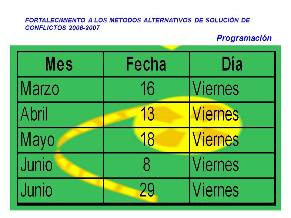 FORTALECIMIENTO A LOS METODOS ALTERNATIVOS DE SOLUCIÓN DE CONFLICTOS 2006-2007