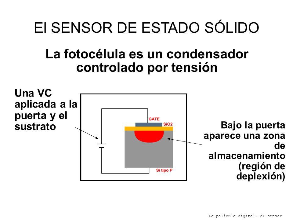 La fotocélula es un condensador controlado por tensión
