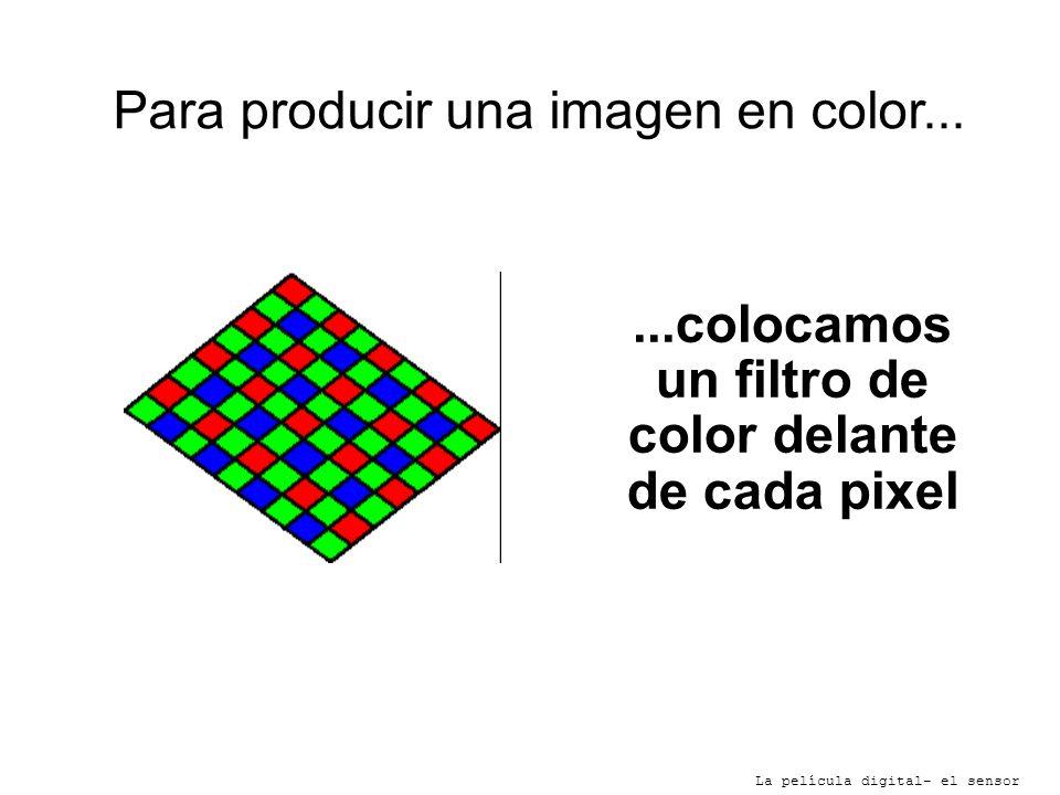 ...colocamos un filtro de color delante de cada pixel
