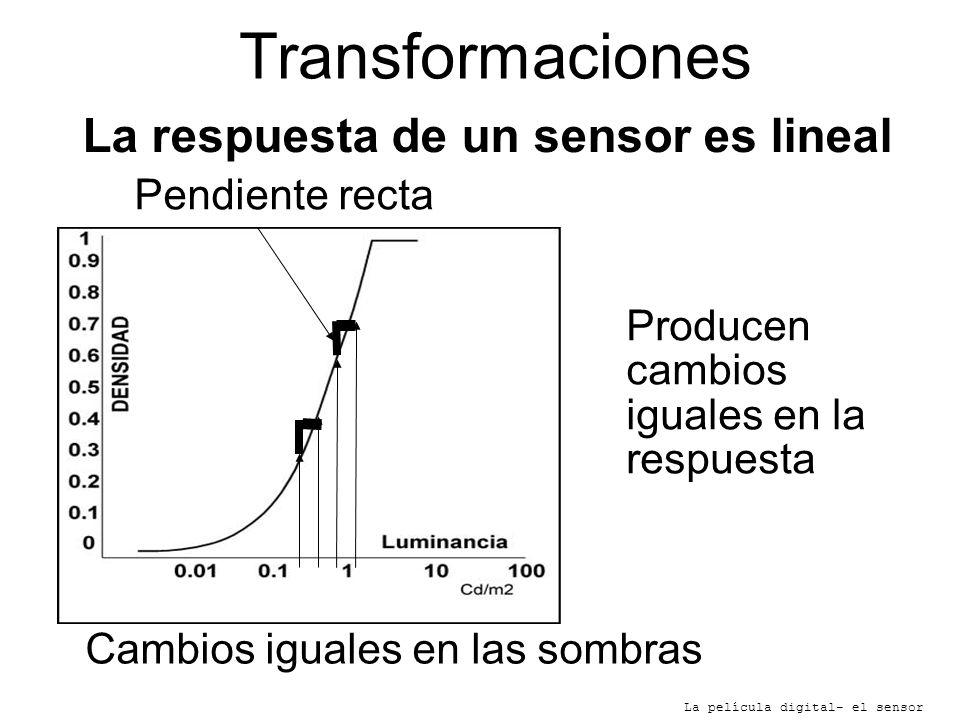 La respuesta de un sensor es lineal