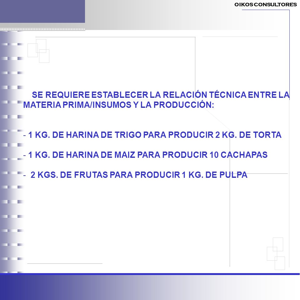 - 1 KG. DE HARINA DE TRIGO PARA PRODUCIR 2 KG. DE TORTA