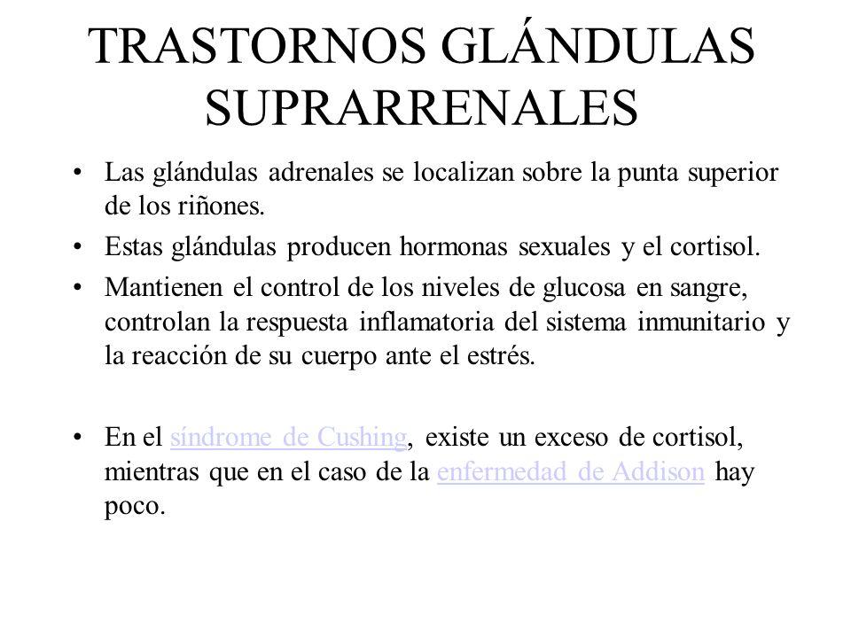 TRASTORNOS GLÁNDULAS SUPRARRENALES