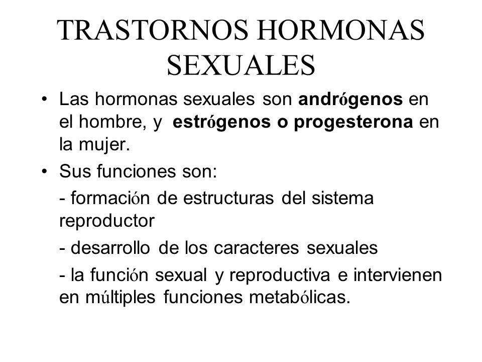 TRASTORNOS HORMONAS SEXUALES