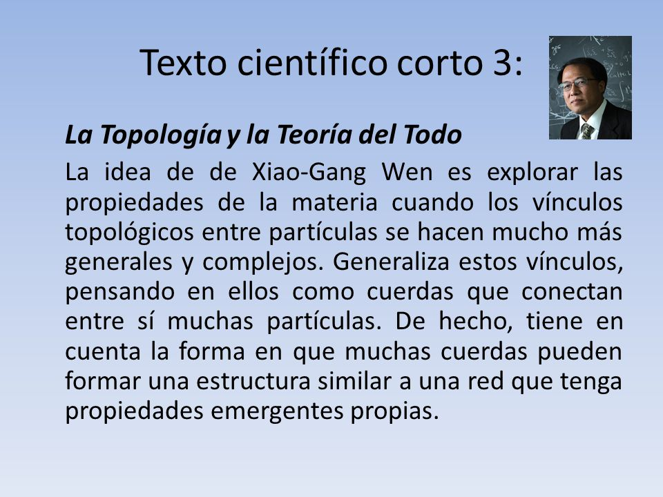 Texto científico corto 3: