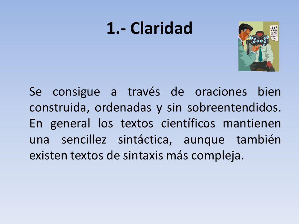 1.- Claridad