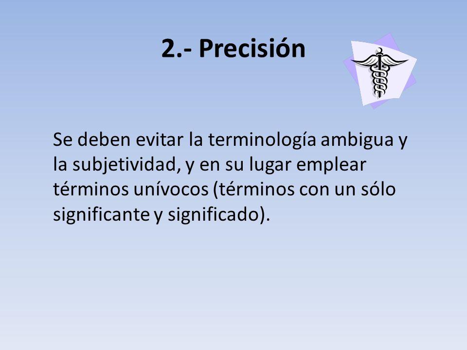 2.- Precisión