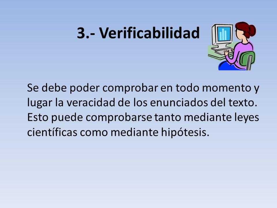 3.- Verificabilidad