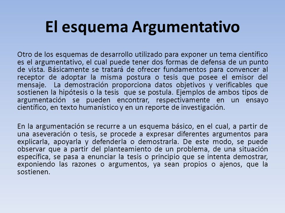 El esquema Argumentativo