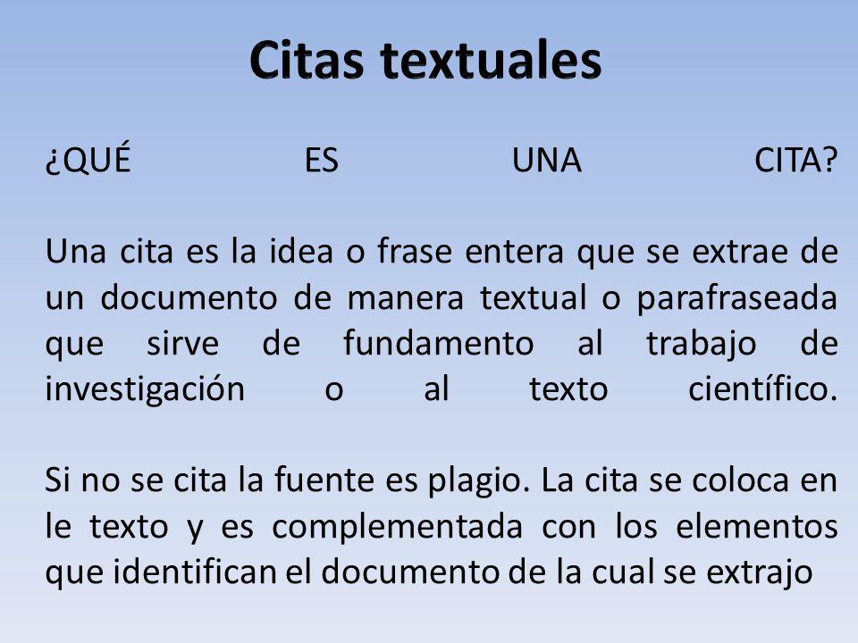 Citas textuales