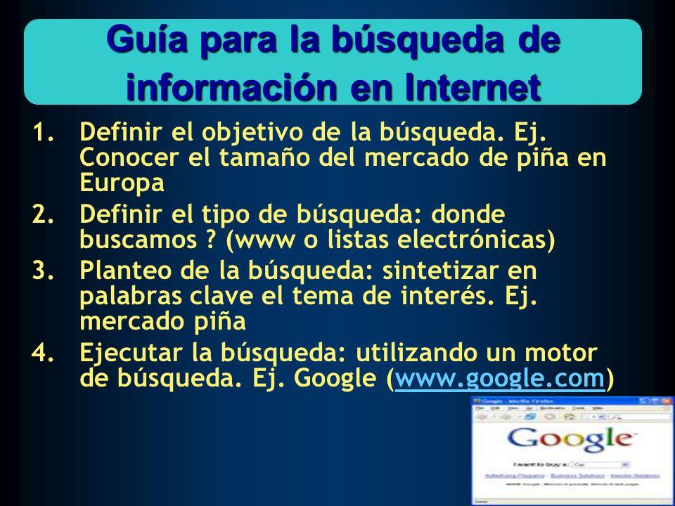 Guía para la búsqueda de información en Internet