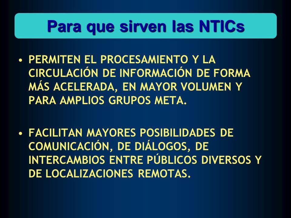 Para que sirven las NTICs