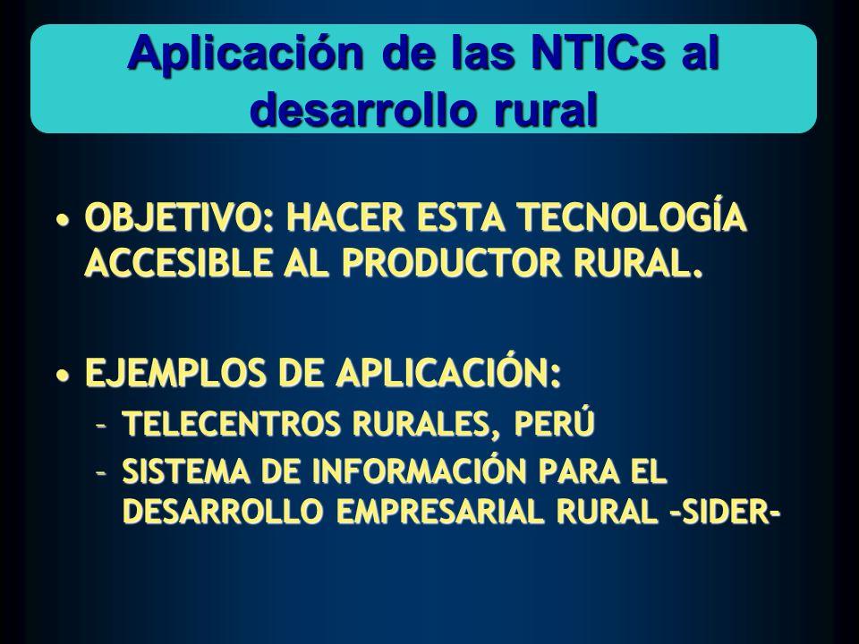 Aplicación de las NTICs al desarrollo rural