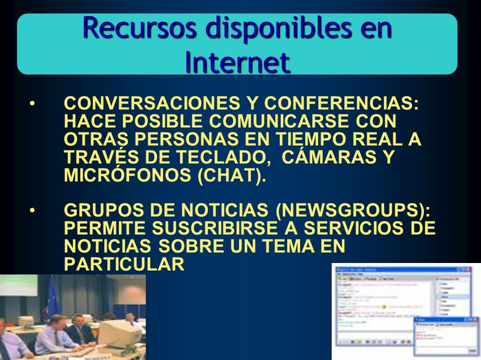 Recursos disponibles en Internet