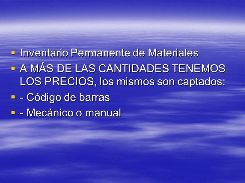 Inventario Permanente de Materiales