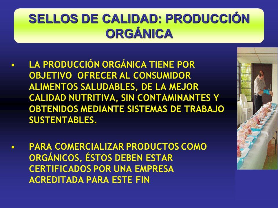 SELLOS DE CALIDAD: PRODUCCIÓN ORGÁNICA