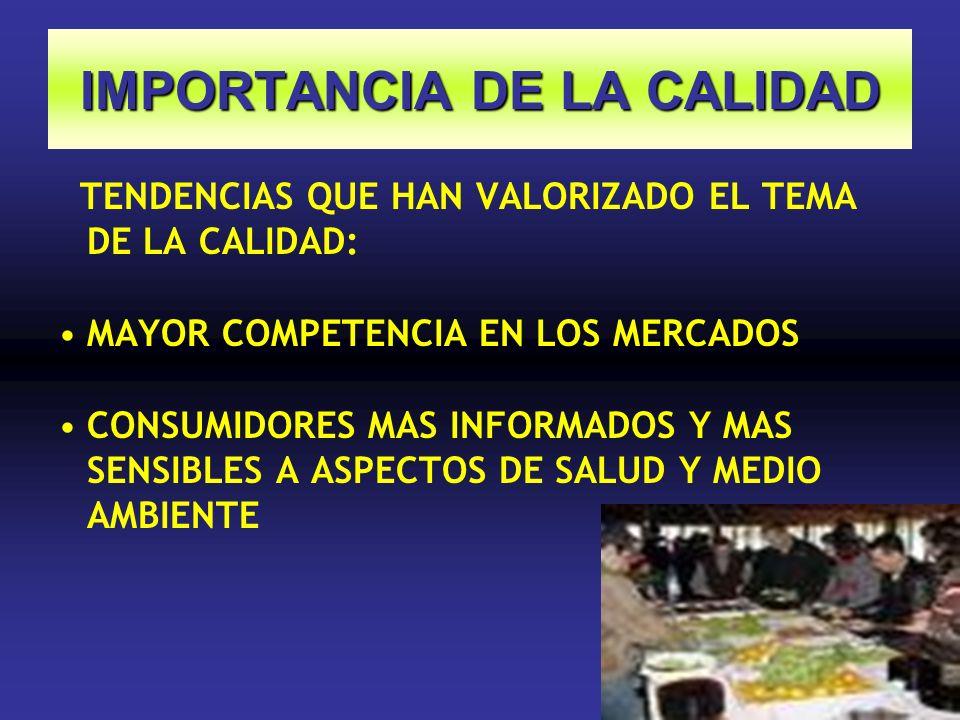 IMPORTANCIA DE LA CALIDAD