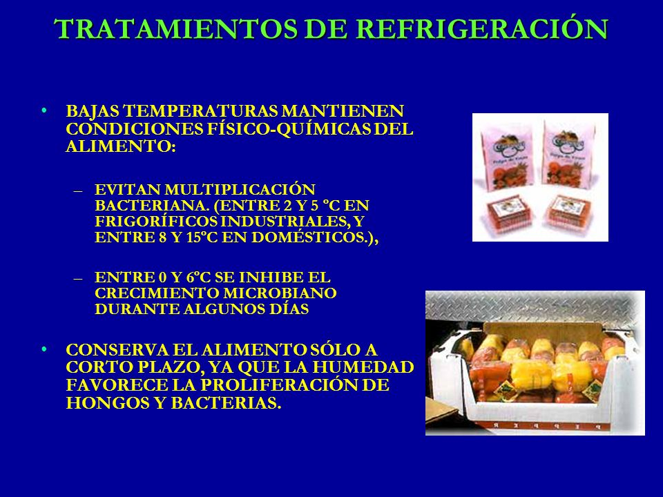 TRATAMIENTOS DE REFRIGERACIÓN