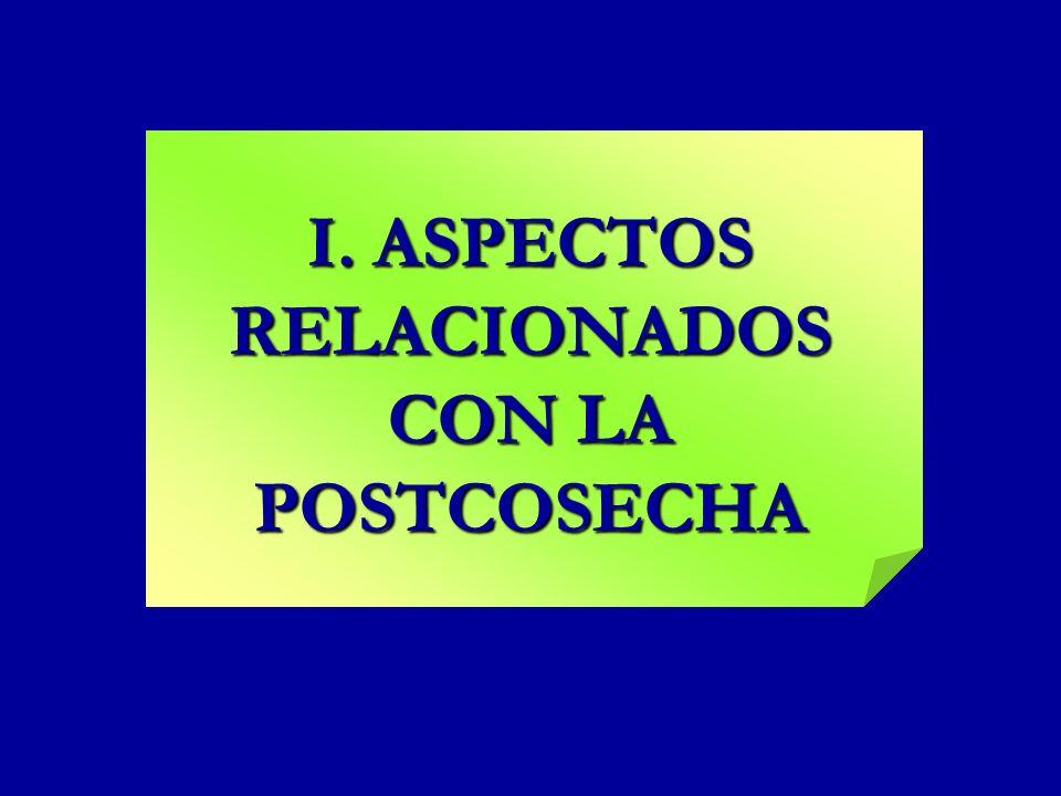 I. ASPECTOS RELACIONADOS CON LA POSTCOSECHA