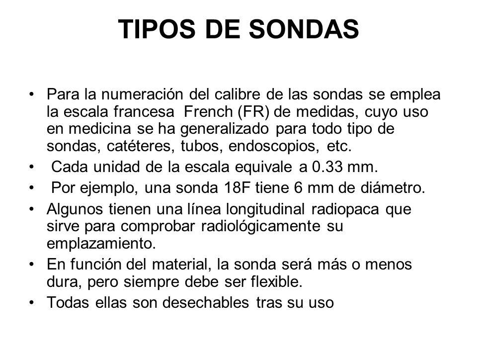 TIPOS DE SONDAS
