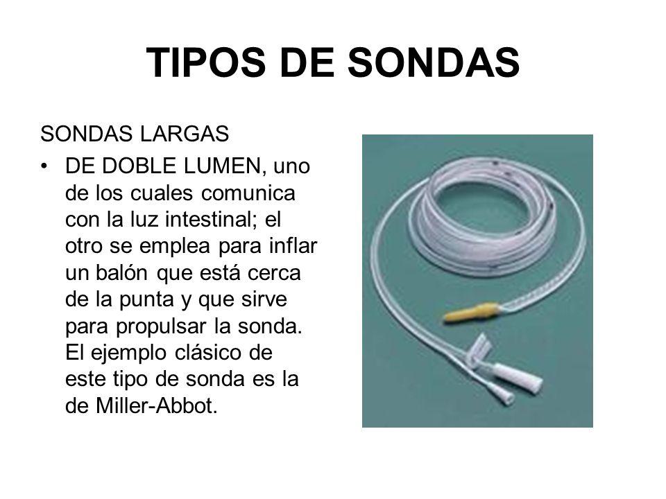 TIPOS DE SONDAS SONDAS LARGAS